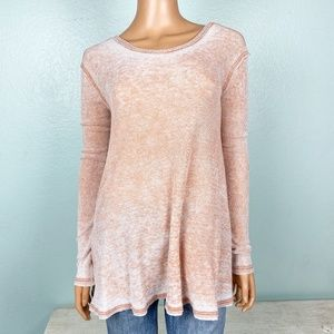 Free People washed out red thermal top XS